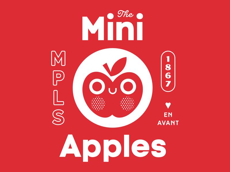 Club Kiddo - The Mini Apples design mpls apple kids illustration tee kids club kiddo minneapolis