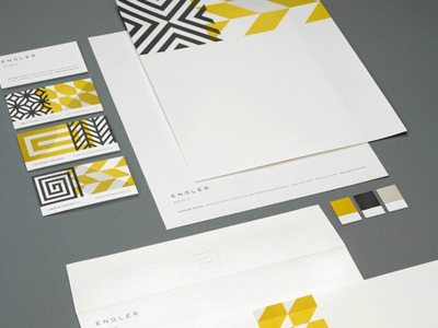 Engler Studio Identity design identity stationery business system letterhead business cards geometric modern graphic interior design patterns