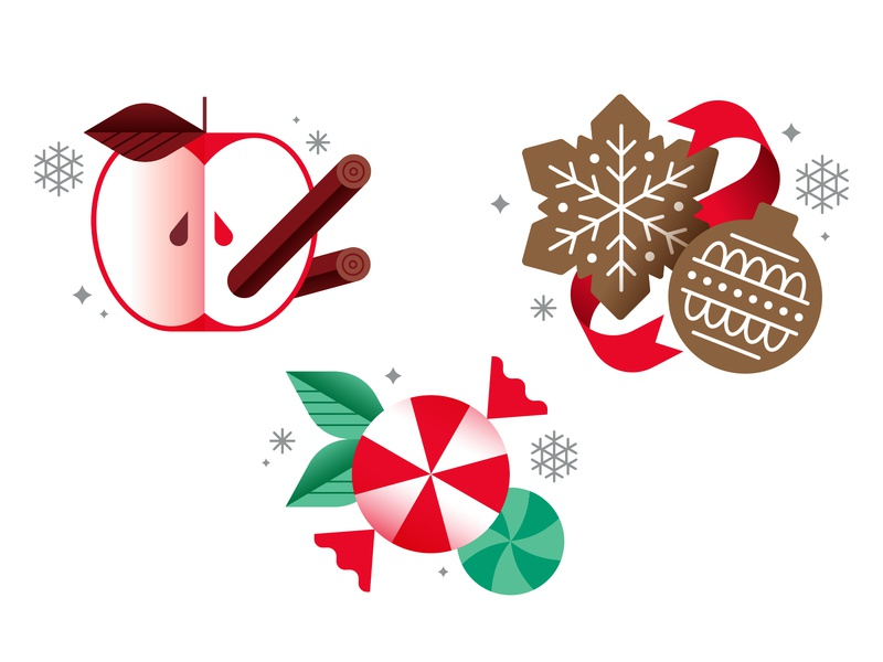Target Wondershop Scents gingerbread peppermint candy cookies apple holidays christmas target vector illustration