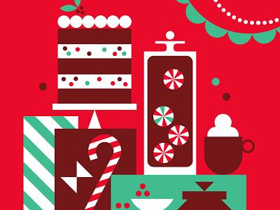 Target Wonderland - Giant Holiday Cards holiday design kids vintage christmas target vector illustration