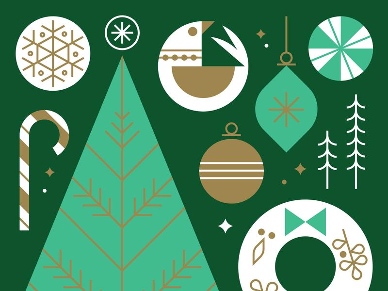 Target Wonderland - Giant Holiday Cards fun design holiday christmas vintage target vector kids illustration