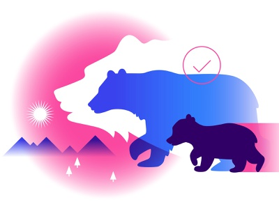 IDEO Blog - Goldilocks bears vector illustration