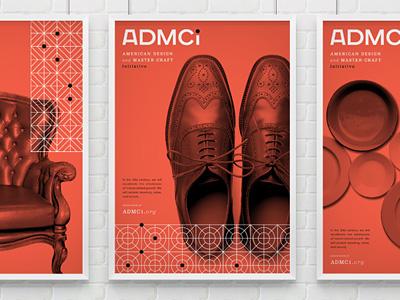 ADMCi branding identity art organization posters