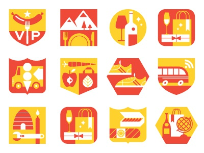 Vancouver Magazine Icons icons illustration spot illustration city food wine shopping magazine