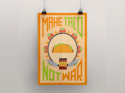 Taco Poster taco vector poster art illustration design print pixeden