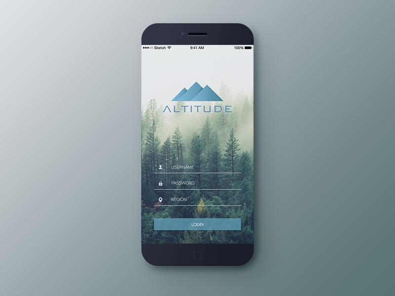 Altitude LogIn design mobile starbucks imagery altitude ios iphone ux ui login