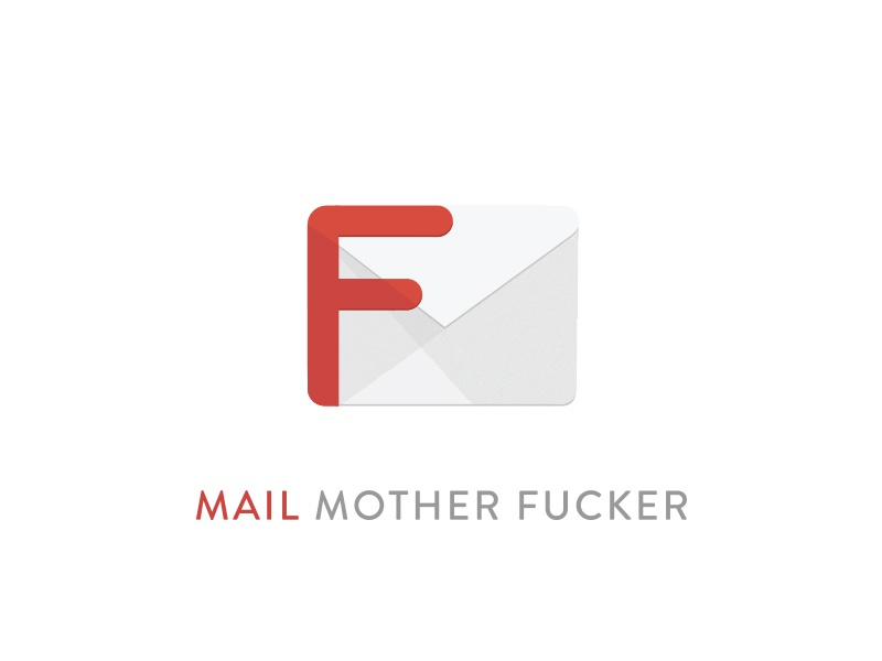 Mail Mother F**ker fuck gmail google design material logo icon app mail