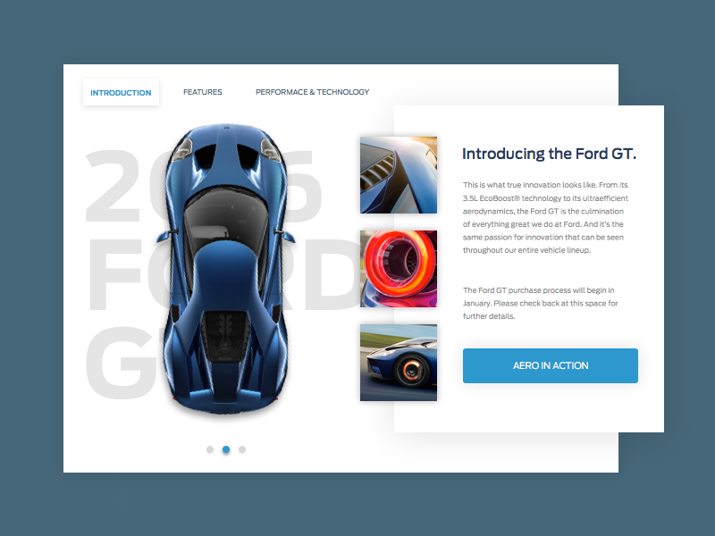 Ford GT shit shadows cars quickview overview site web ux ui ford design