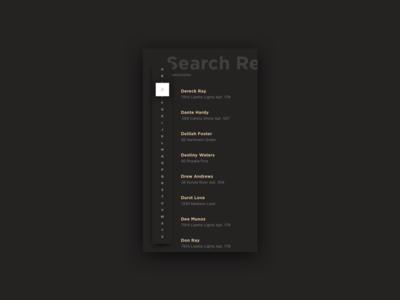 Search Results Dark UI