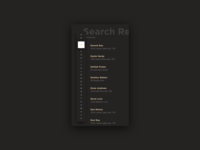 Search Results Dark UI