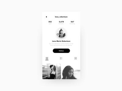 Instagram Profile Concept