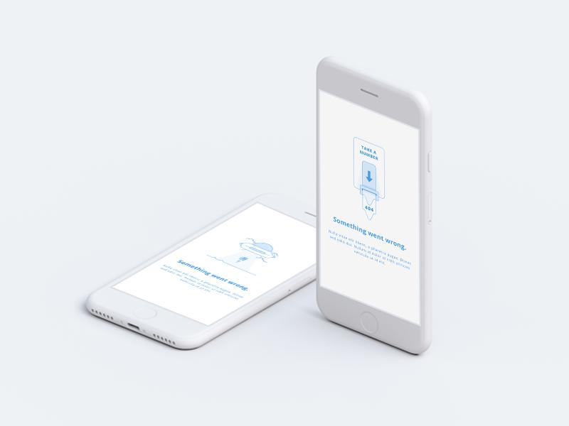 Something Went Wrong!  blue white design ux ui mobile creativedash iphone 404