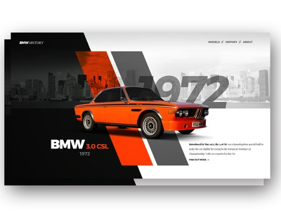 BMW history concept bmw cars web history webdesign ui ux