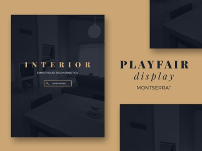 Playfair display & Montserrat typography design web typo montserrat playfair font