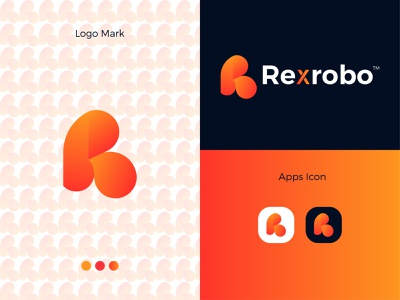 Rexrobo Modern Logo Design - R + Letter Mark graphic design logo letter mark illustrator icon design app branding