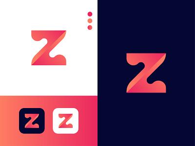 Modern Logo Design - Z Letter Mark graphic design ui logo letter mark illustrator icon app branding design