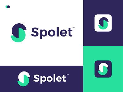 Spolet Modern Logo Design - S Letter Mark minimal ui logodesign modern graphic design gradient logo ux illustrator logo letter mark icon design branding app modern logo logo design