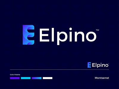 Elpino Modern Logo Design - E Letter Mark ux ui minimal modern logo logo design modern logodesign graphic design illustration logo letter mark illustrator icon design app branding