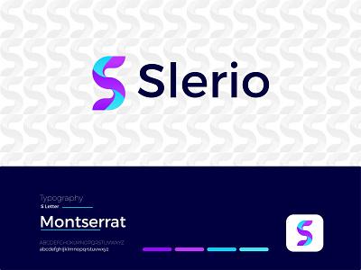 Slerio Modern Logo Design - S + Letter Mark modern logodesign logo design ux illustrator modern logo ui graphic design app letter mark icon design branding logo