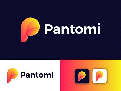 Pantomi Modern Logo Design - P Letter Mark ui modern logodesign logo design ux illustrator modern logo graphic design app letter mark icon branding design logo