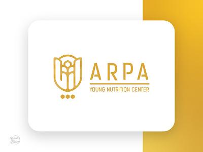 Arpa persian branding icon minimal label illustration graphic design design logo food