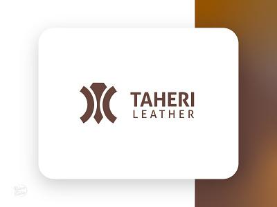 Taheri Leather vector icon badge identity design branding logotype typography logo illustration graphic design raimastudio