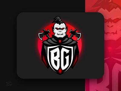 Blackguard badge gamer logo legends character design character mascot logo mascot gaming game demon devils devil orc logo minimal graphic design illustration design