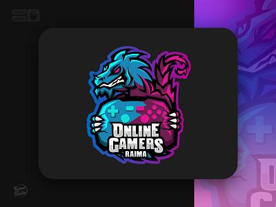 OnlineGamer-Riama legend contest online gamepad gaming snake action cat dragon logodesigner mascotlogo mascot logogaming gamer logo minimal graphic design design illustration raimastudio