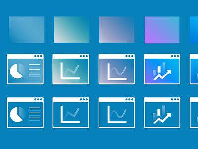 Data illustraions/icon with gradients ideas icon illustrations data gradients