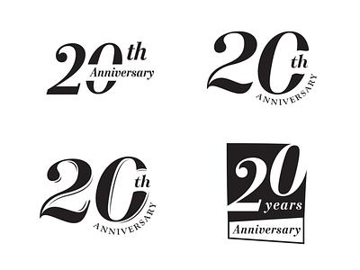 20 Years Anniversary Branding concept branding anniversary 20 years