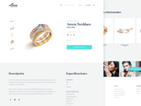 Jewelry Website Design — Product detail