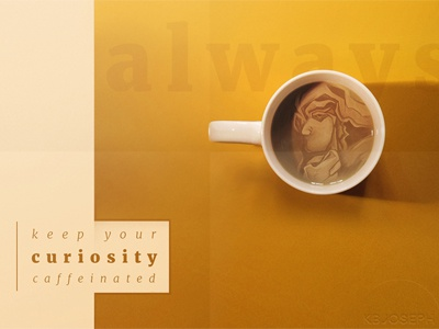 400x300 cubism curiosity typography illustration design art coffee