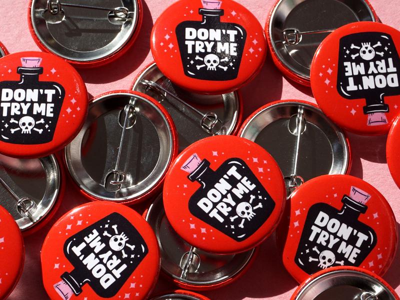Poison Bottle Pins