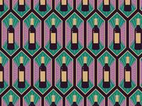 Wine Bottle Art Deco Pattern