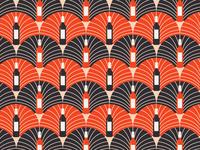 Wine Bottle Art Deco Pattern Pt. II