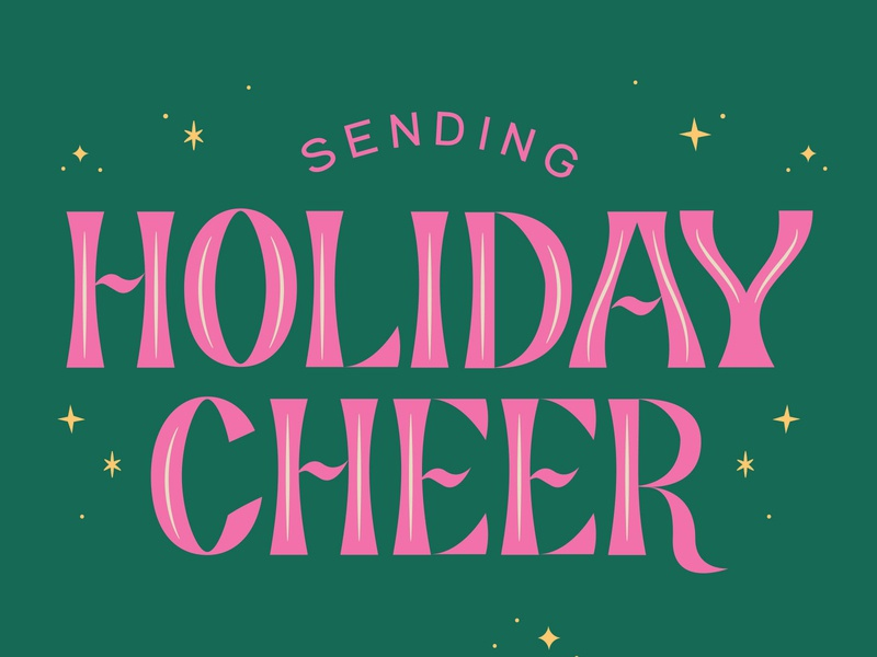 Holiday Card Lettering Detail