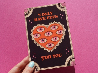 Eyes Valentine creepy valentine eyeballs print design valentine card romance hearts eyes valentines greeting card valentines day card valentines day valentine