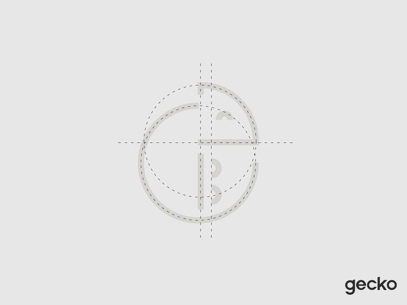 Gecko Mark animal logo design monogram startup branding tech branding logo grid search engine icon logodesign logo design iconmark grid brand identity minimal logotype gecko glyph mark logomark branding logo