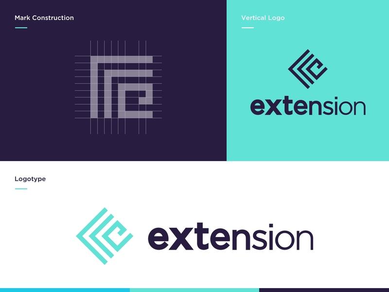 Browser Extension Branding Proposal V.1 icon tech glyph typography icon mark logo design branding design website vector grid mark minimal logotype branding concept logo plugin extension browser extension browser branding