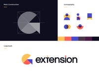Browser Extension Branding Proposal V.2 store website tech geometric minimal circle logo logodesign logotype logomark mark iconography icon grid extension browser extension browser branding design branding concept branding