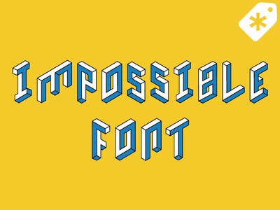 Impossible Font market creative vector illustration shapes impossible isometric font