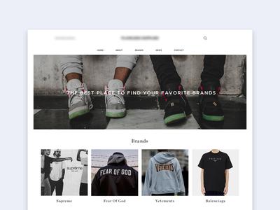 Fashion Platform grid blog instagram photography shop minimal clean platform fashion website ux ui
