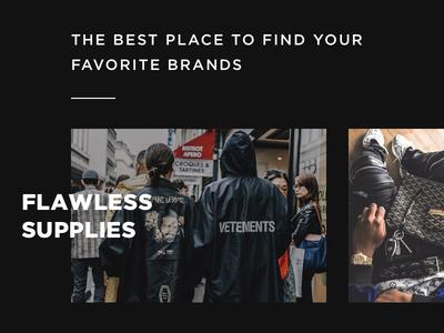 Flawless Supplies Website ui ux website fashion platform clean minimal shop photography instagram blog grid
