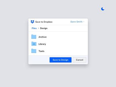Dropbox Dark UI interaction design experimental design product palette layout animation prototype ux ui app saver inteface uidesign dark app dark dropbox
