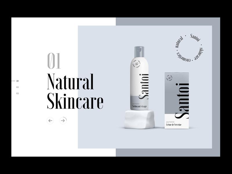 Cosmetics Brand Website Exploration cosmetics exploration concept webdesign brand identity typography layout branding ux clean website minimal ui