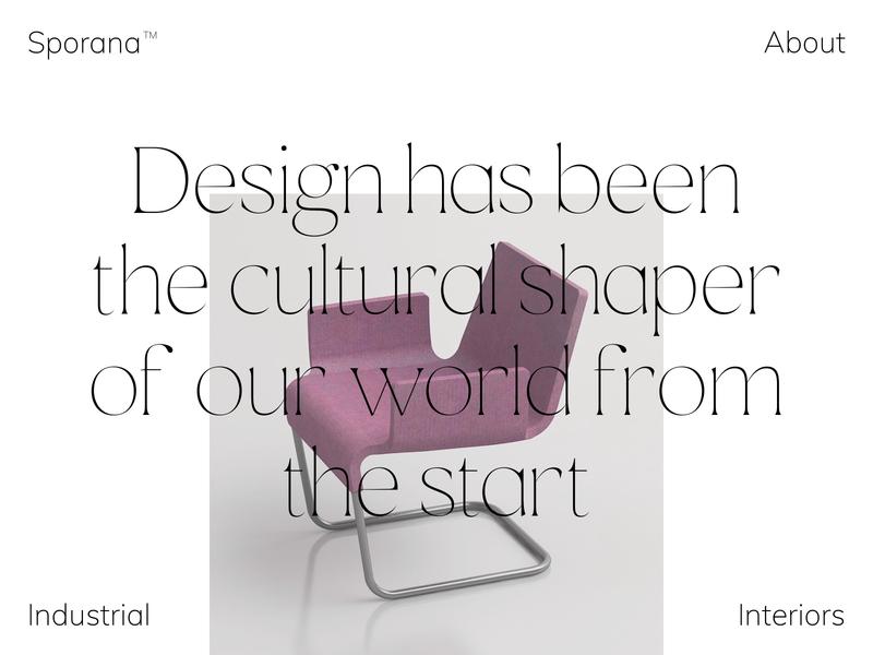 Industrial Design Studio Website navigation interior architecture industrial studio web design landingpage about menu elegant typography web design website layout ux grid clean ui minimal