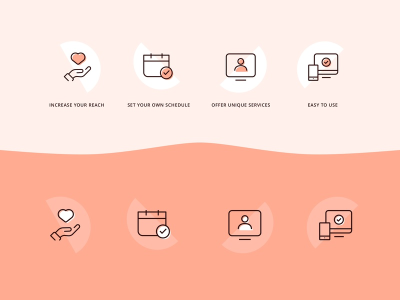 Iconography Exploration v.2 linear icons iconset vector website design ui application linear exploration apparel doctor iconography icons duotone health app healthcare branding teleconsultation