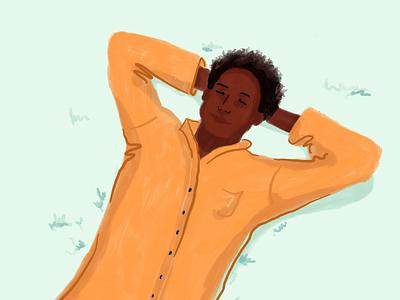 Mental Health pharmaceutical meditate person human character man illustrations procreate pharmacy alto