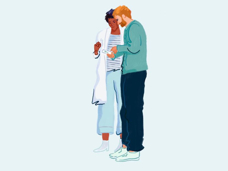 Pharmacist & Patient patient pharmacist people drawing procreate illustration illustrator pharmacy alto