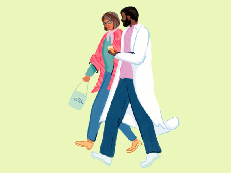 Pharmacist alto people drawing draw procreate illustration illustrator patient pharmacist pharmacy pharma